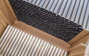 imballo di tubi in barre saldati prodotti in acciaio inox